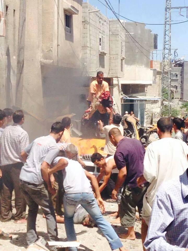 صور مجزرة حي الشجاعية غزة