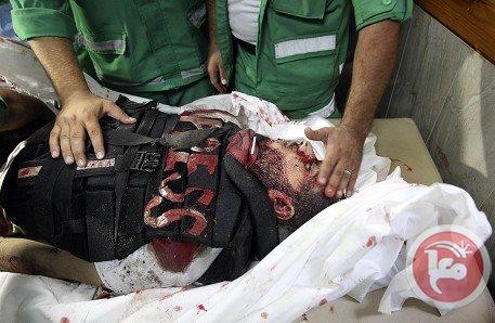 صور مجزرة حي الشجاعية غزة قتل صحفي